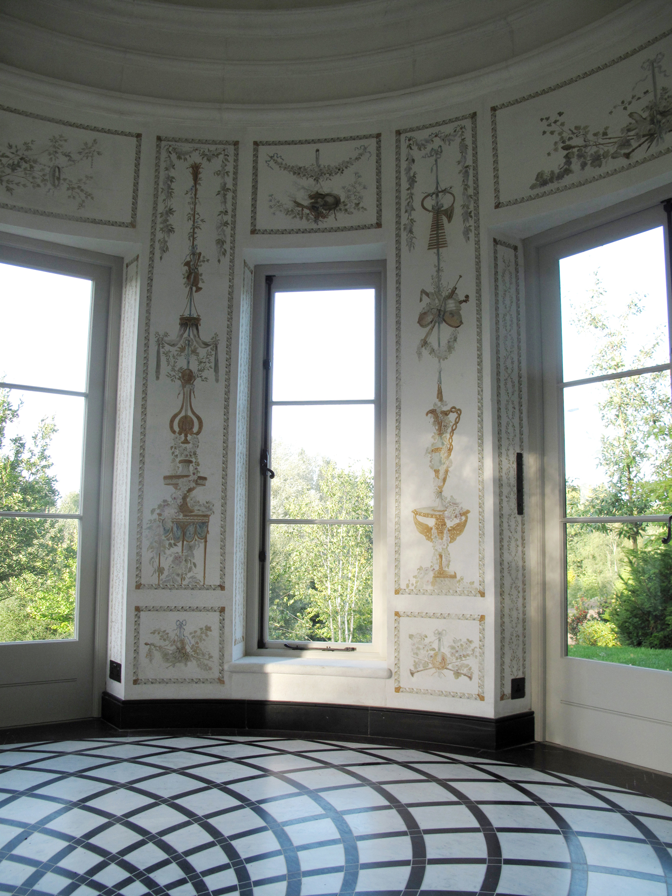 Fresco painting and watercolor - belvedere in a private house in Uk