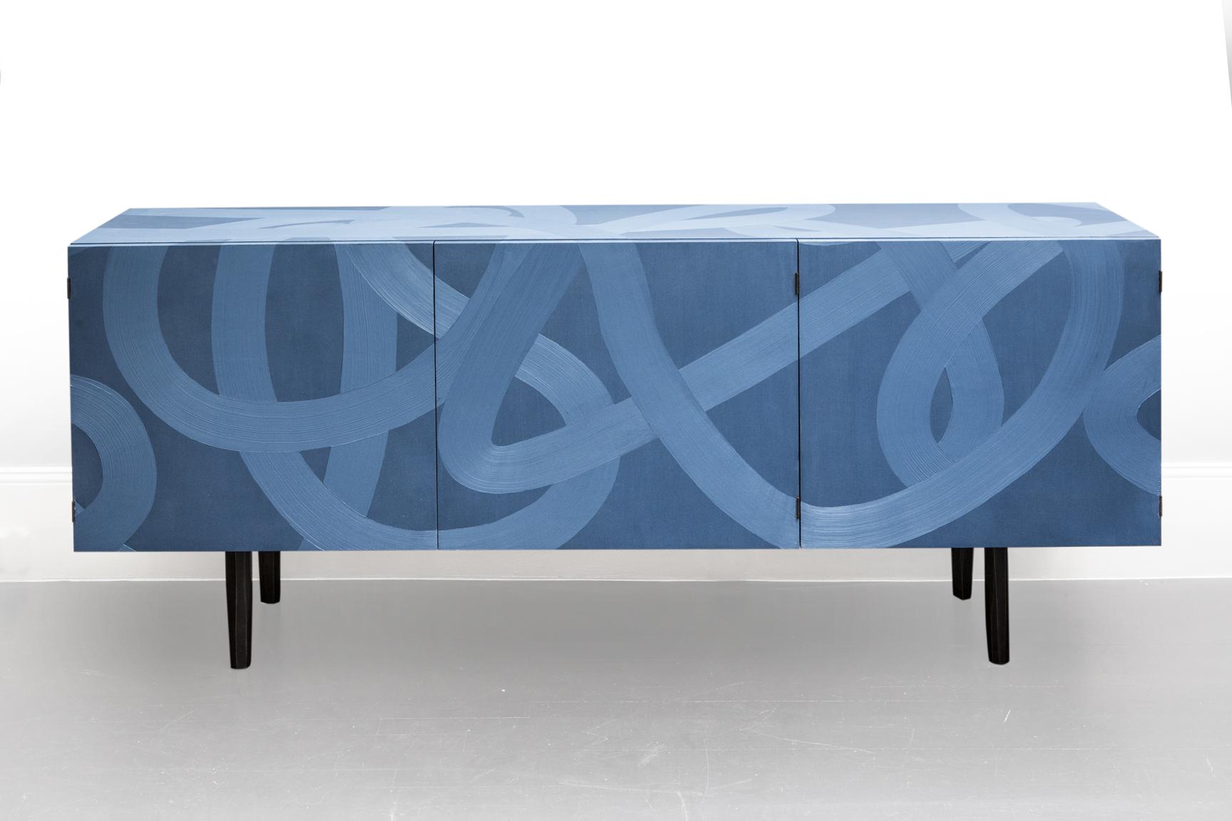 Buffet bleu - Galerie Carole Decombe