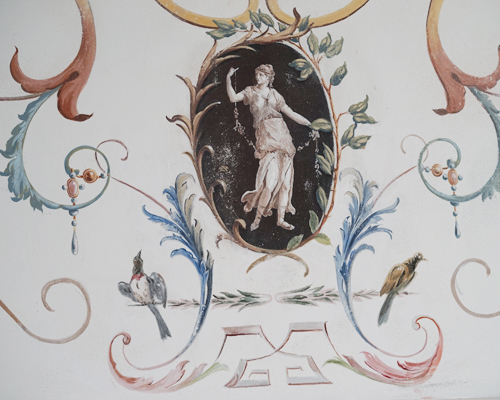Italian 18e century frescoes in NYC